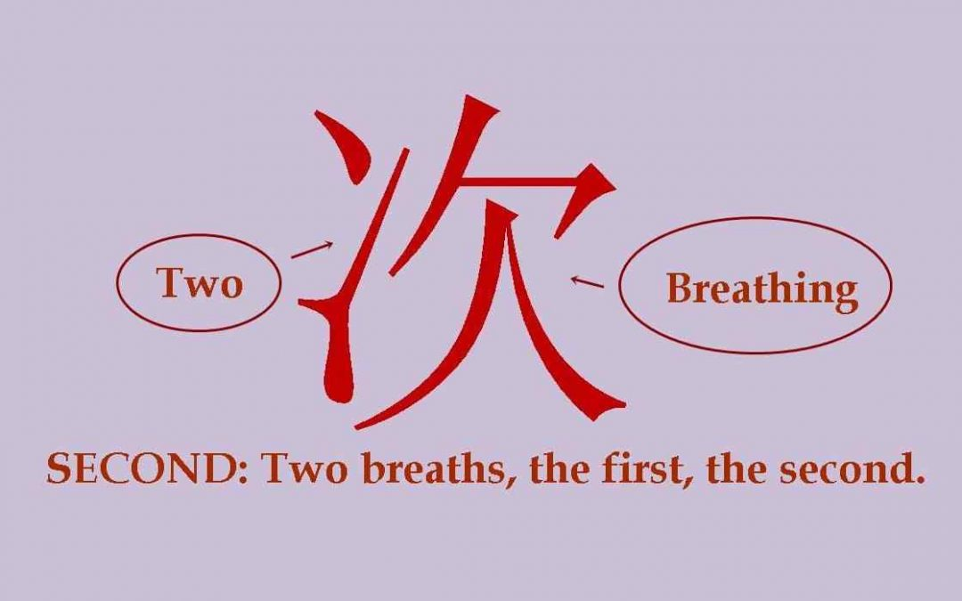 Chinese character 次 second, times