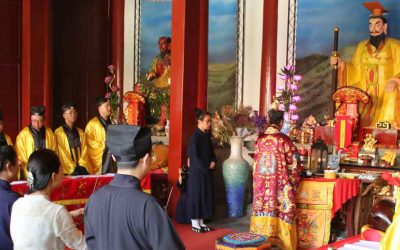 Festival Duanwu en un templo taoísta